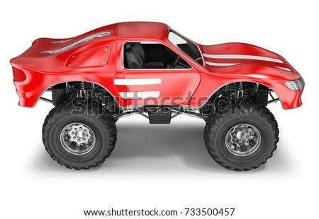 Big foot car 3d