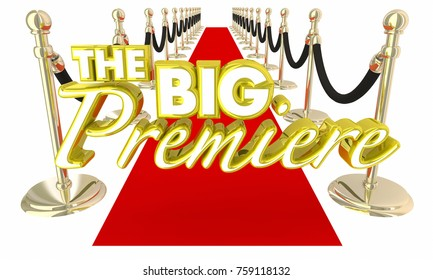 The Big Premiere Red Carpet Debut Opening Night Event 3d Illustration