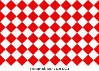 Big red and white rotate square checker pattern texture wallpaper background