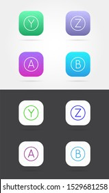 Big Set of App Icon Template with Guidelines. Raster Fresh Colour