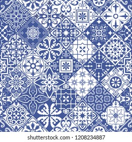 Big set of tiles in portuguese spanish, italian style. For wallpaper, backgrounds, decoration for your design, ceramic, page fill and more. Raster version.