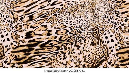 big size leopar skin print