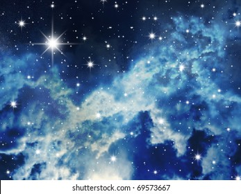 The big starry congestion on night the sky