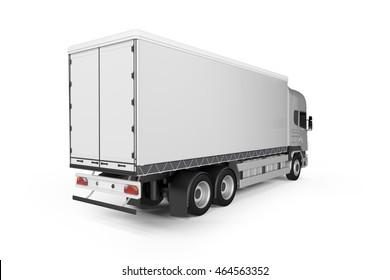 Big Truck Background - Blank mockup for design - 3D illustration