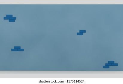 Big Wall. 3d illustration