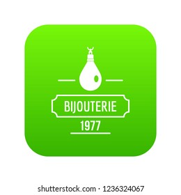 Bijouterie icon green isolated on white background