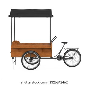 Bike Food Cart Isolated. 3D rendering