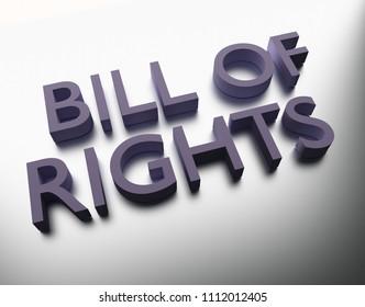 Bill of Rights - 3D Illustration