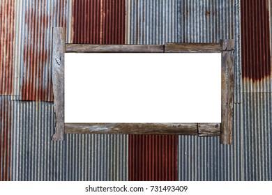 Billboard on Rusty plate