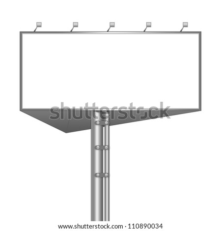 royalty free stock illustration of billboard template blank white