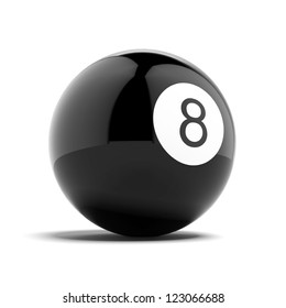 Billiard eight ball isolated on a white background