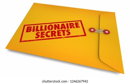 Billionaire Secrets Envelope Stamped Information 3d Illustration