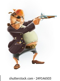 Billy Bones cartoon character Treasure Island