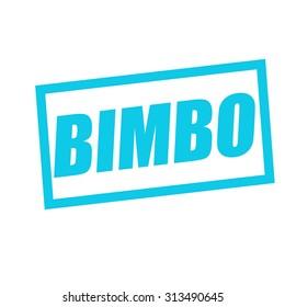 BIMBO blue stamp text on white