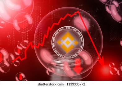 BINANCE (BNB) in a soap bubble. Risks and dangers of investing to binance. Collapse of the exchange rate. Unstable concept