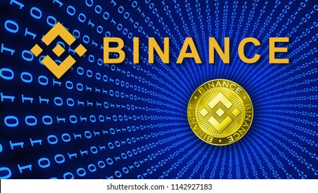 Binance Coin Symbol. 3D Illustration. Binance is a finance exchange market. Crypto Currency background concept. Cryptocurrency BNB Binance coin