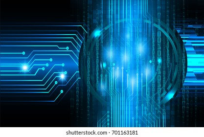 binary circuit future technology, blue cyber security concept background, abstract hi speed digital internet.motion move blur. pixel.