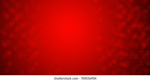 Binary code background with de-focused lights red wallpaper