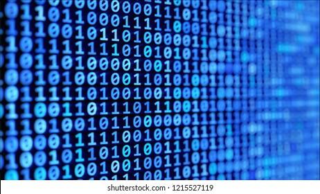 binary code stream, 3d illustration