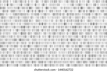 Binary digital code. Computer background numbers 1,0. Binary code for your design. Programming coding seamless pattern. Isolated on white background. Seamless pattern