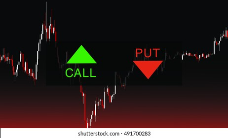 Binary Option Background with PUT and CALL button