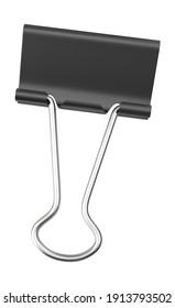 Binder Clip 3D illustration on white background