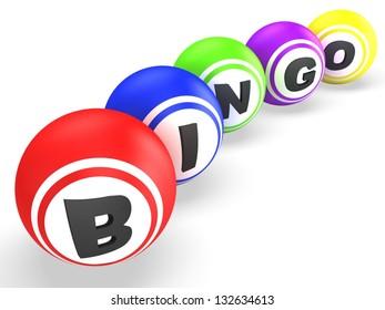 Bingo balls. WIn concept
