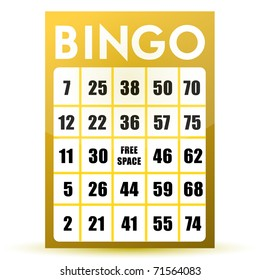 Bingo card illustration design isolated over a white background