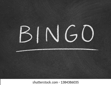 bingo concept word on a blackboard background