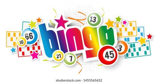 Bingo with lottery balls and bingo card