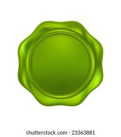 Bio green wax seal isolated