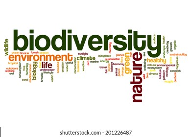 Biodiversity concept word cloud background