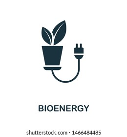 Bioenergy icon illustration. Creative sign from science icons collection. Filled flat Bioenergy icon for computer and mobile. Symbol, logo graphics.