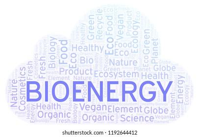 Bioenergy word cloud.