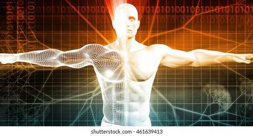 Bioengineering or Biological Engineering as a Concept 3D Render