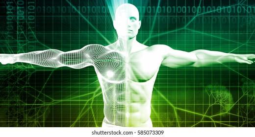 Bioengineering or Biological Engineering as a Concept 3D Illustration Render