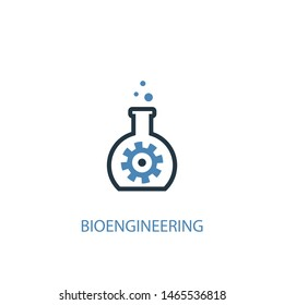 bioengineering concept 2 colored icon. Simple blue element illustration. bioengineering concept symbol design. Can be used for web and mobile UI/UX
