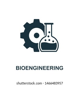 Bioengineering icon illustration. Creative sign from science icons collection. Filled flat Bioengineering icon for computer and mobile. Symbol, logo graphics.