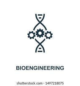Bioengineering icon illustration. Creative sign from biotechnology icons collection. Filled flat Bioengineering icon for computer and mobile. Symbol, logo graphics.