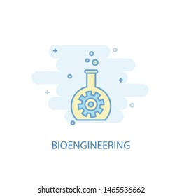 bioengineering line concept. Simple line icon, colored illustration. bioengineering symbol flat design. Can be used for UI/UX