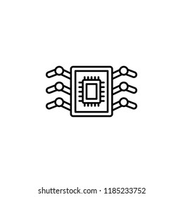 Bioengineering nanorobotics icon. Element of artificial intelligence icon for mobile concept and web apps. Thin line Bioengineering nanorobotics icon can be used for web and mobile