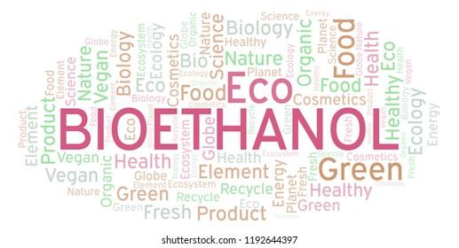 Bioethanol word cloud.