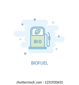 Biofuel line trendy icon. Simple line, colored illustration. Biofuel symbol flat design from Green Energy set. Can be used for UI/UX