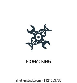 biohacking icon. Simple element illustration. biohacking concept symbol design. Can be used for web and mobile.