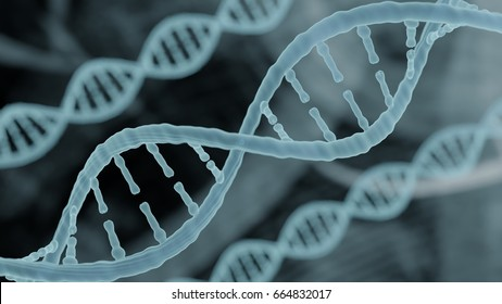 Bioinformatics biotechnology concept of DNA and computational background, DNA and computer code, bioinformatics background  DNA helix strand holographic medical biotechnology 3D render