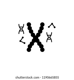biological, chromosome, DNA icon. Element of genetics and bioengineering icon. Premium quality graphic design icon. Signs and symbols collection icon for websites, web design