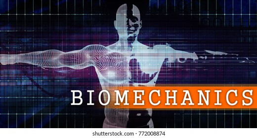 Biomechanics Medical Industry with Human Body Scan Concept 3d Render