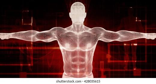 Biomedical Engineering or Biology Medical Bioligcal Concept 3d Illustration Render