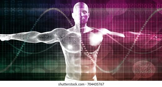 Biomedical Engineering for Medicine Used In Healthcare Concept 3D Illustration Render