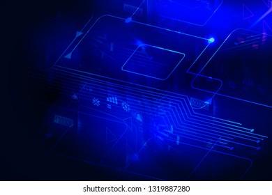 Biometric Verification theme , Info graphic banner background`